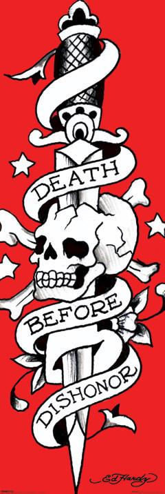 Plagát Ed Hardy - death before dishonor