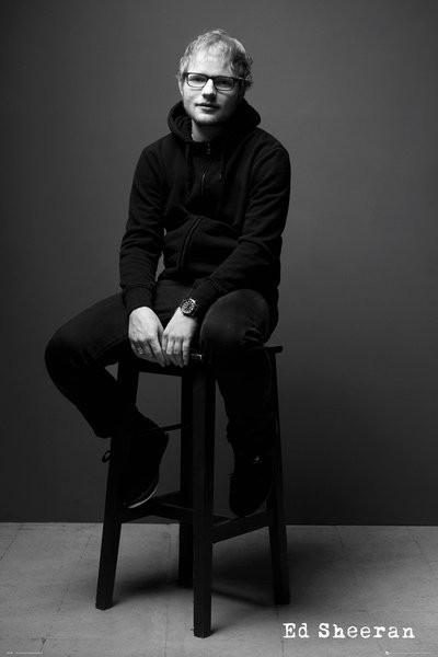 Plagát  Ed Sheeran - Black and White