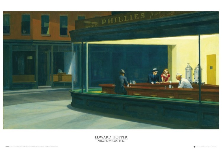 Plagát Edward Hopper - nighthawks