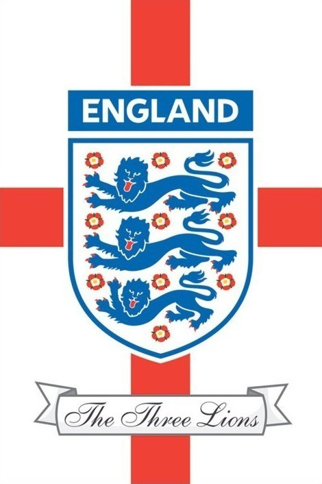 Plagát England F.A. - the three lions