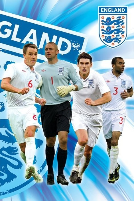 Plagát England side 1/2 - terry, green, barry & cole
