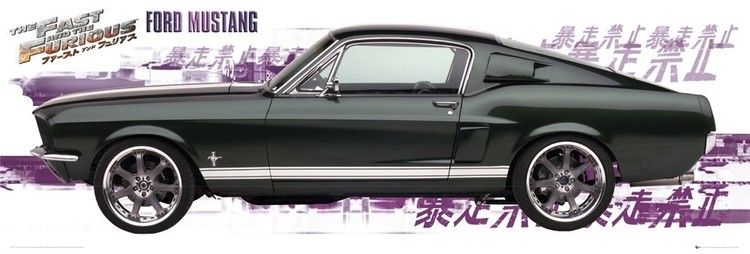 fde44e8e81 Plagát Fast and Furious - ford mustang ...