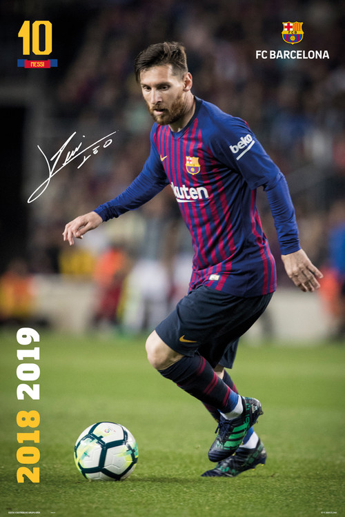 Plagát  FC Barcelona 2018/2019 - Messi Accion