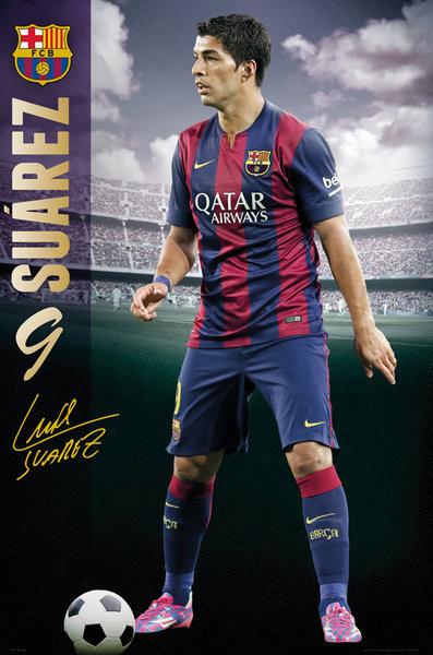 Plagát FC Barcelona - Suarez 14/15