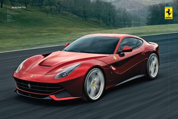 Plagát Ferrari - berlinetta