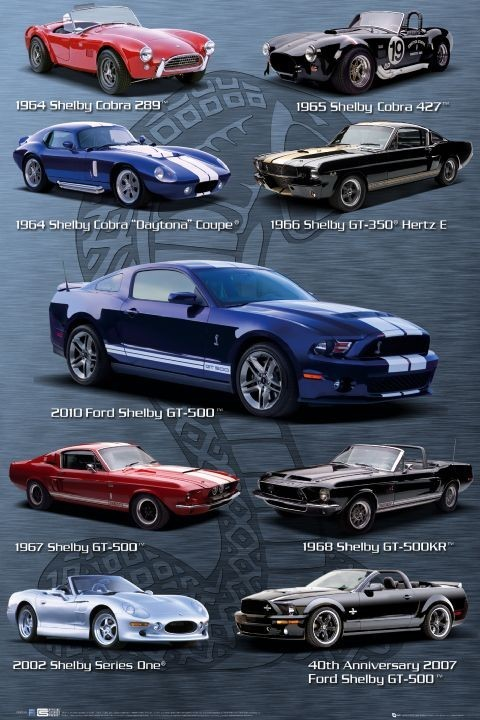 Plagát Ford Shelby Mustang - compilation