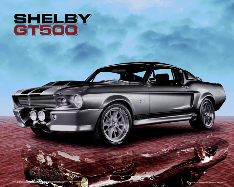 Plagát Ford Shelby - mustang gt500 sky