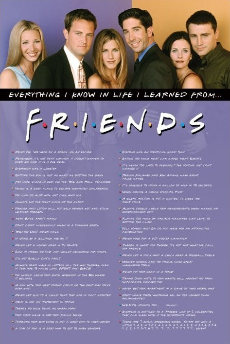 Plagát FRIENDS - everything i know