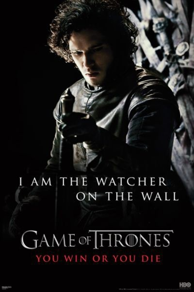 Plagát GAME OF THRONES - I'm the watcher on the wall