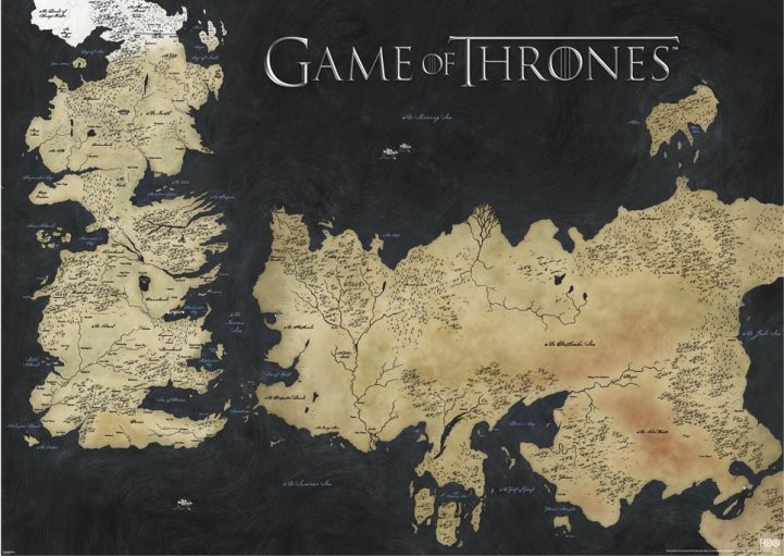 Game Of Thrones Mapa Plagát Obraz Na Posters Sk
