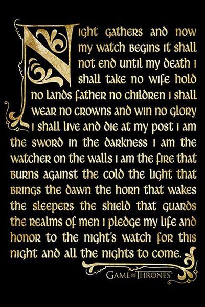 Plagát Game of Thrones - Night's watch