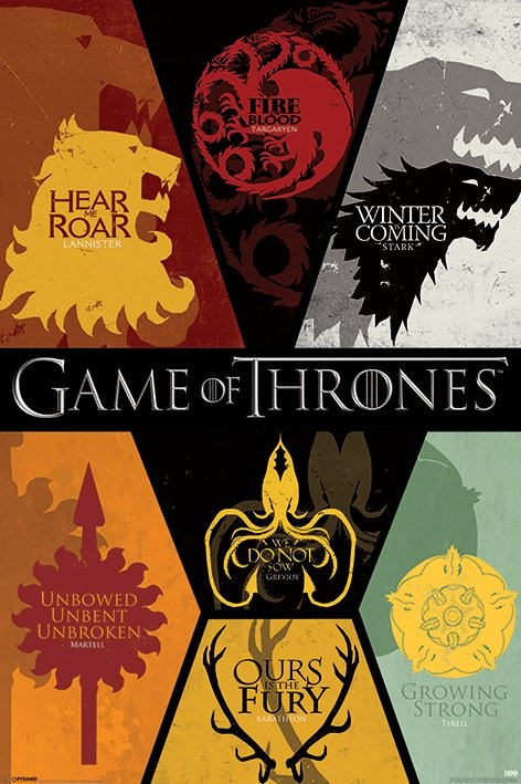 Plagát GAME OF THRONES - sigils