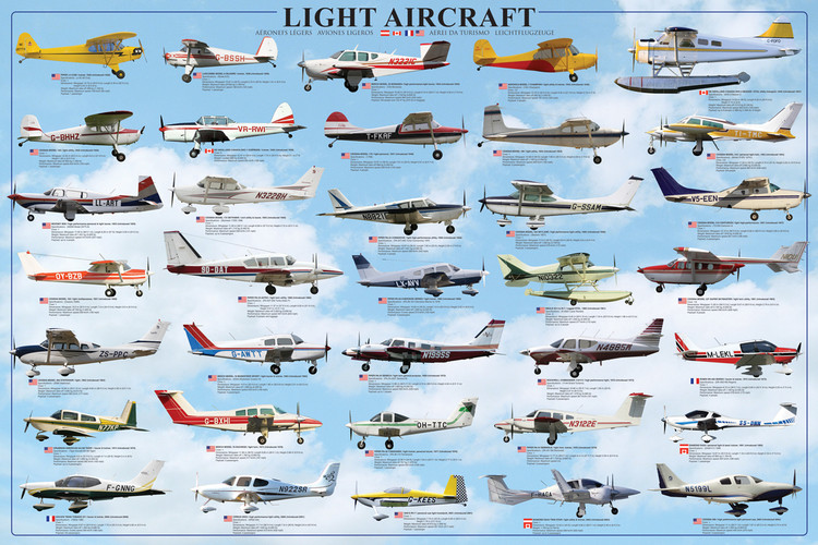 Plagát General aviation - light aircraft