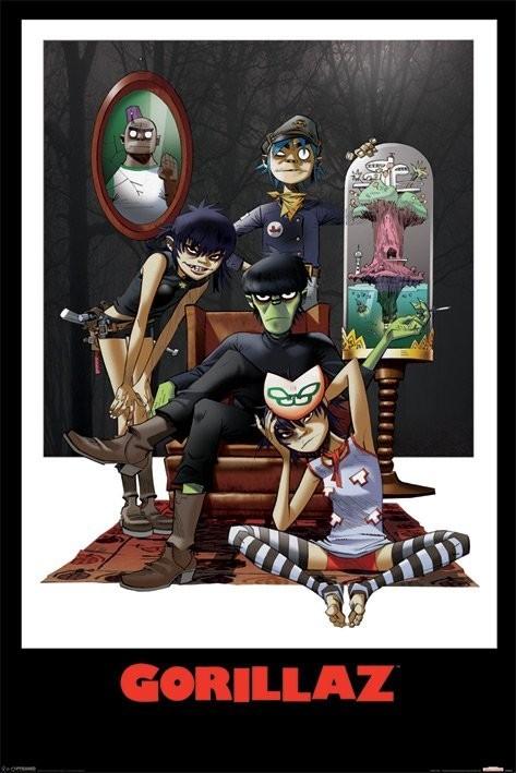 Plagát Gorillaz - family portrait
