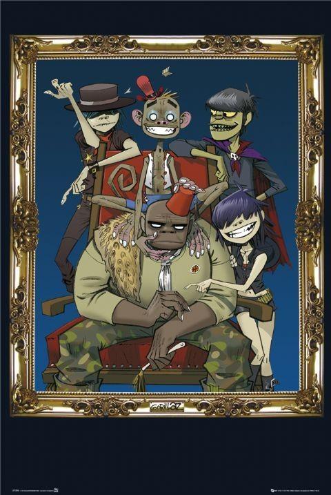 Plagát Gorillaz - frame