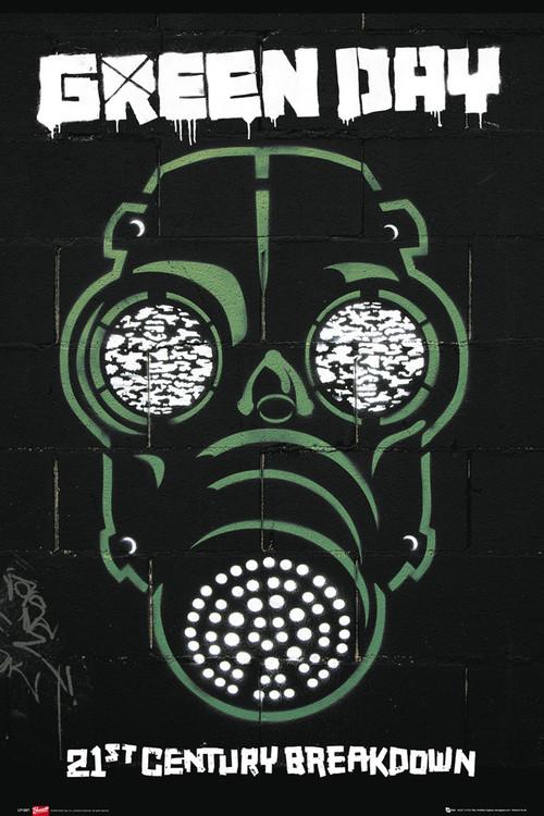 Plagát Green Day - gas mask