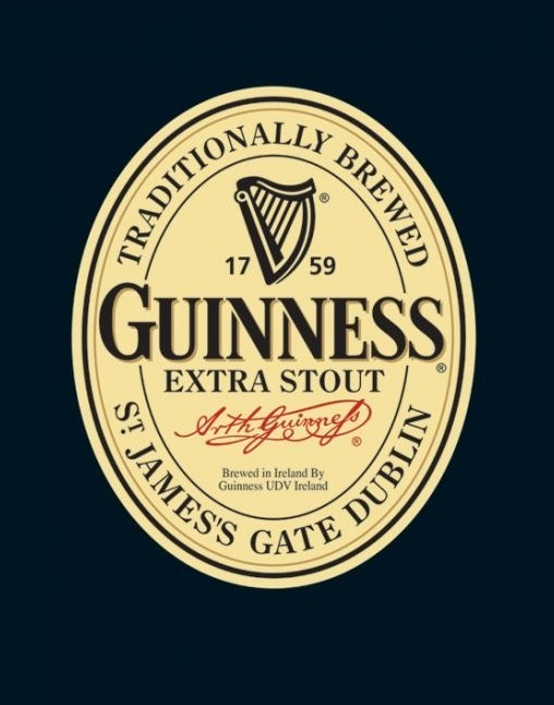 Plagát Guinness - label