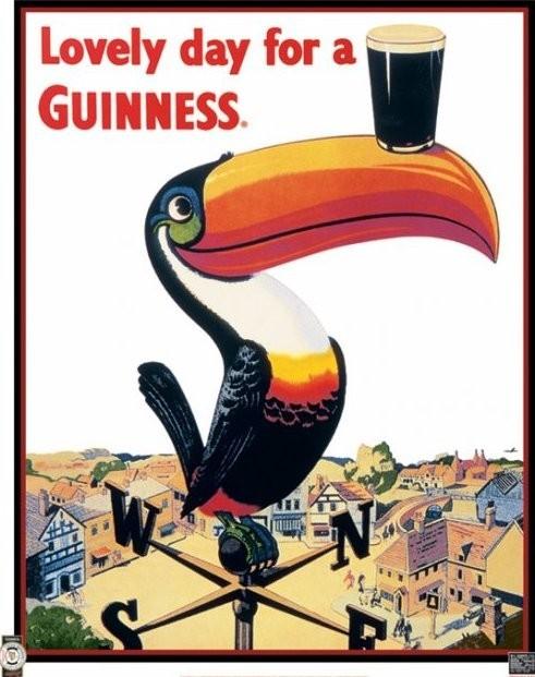 Plagát Guinness - toucan