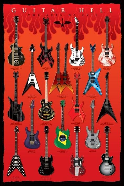 Plagát Guitar hell - the axesod evil