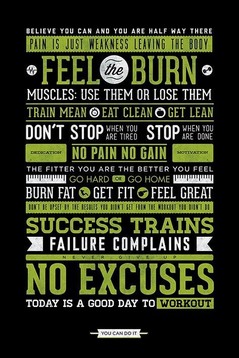 Plagát  Gym - Motivational