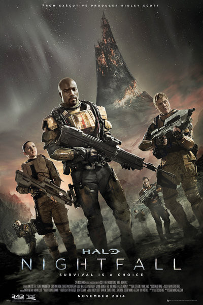 Plagát Halo: Nightfall - Key Art