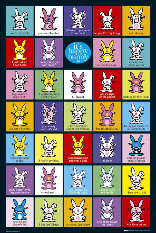 Plagát Happy Bunny - compilation