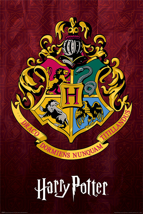 Plagát  Harry Potter - Hogwarts School Crest