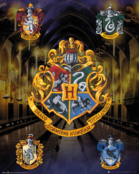 Plagát  Harry Potter - House Crests