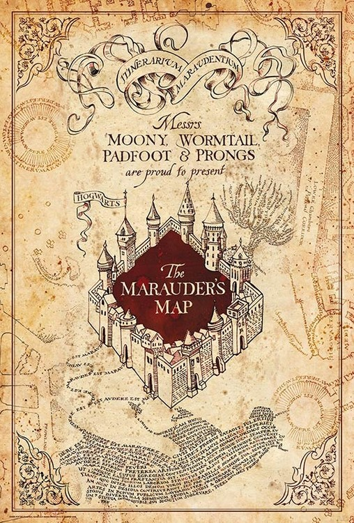 Plagát Harry Potter - Maurauder's Map