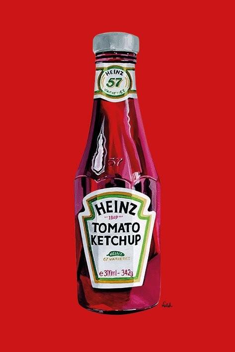 Plagát Heinz - tomato ketchup