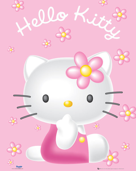 Plagát Hello Kitty - Pink