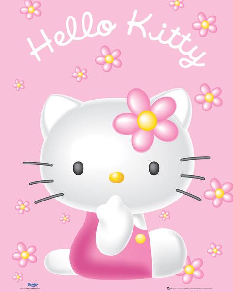 Plagát Hello Kitty - Pink