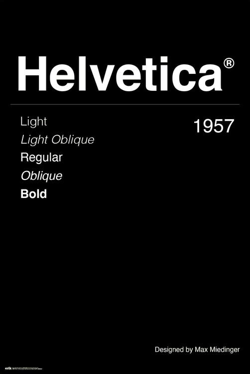 Plagát Helvetica