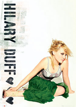 Plagát Hilary Duff - green skirt