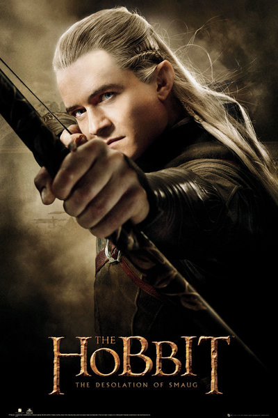 Plagát HOBBIT - desolation of smaug Legolas
