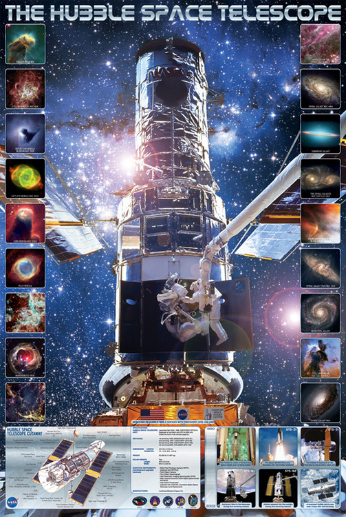 Plagát HUBBLE SPACE TELESCOPE