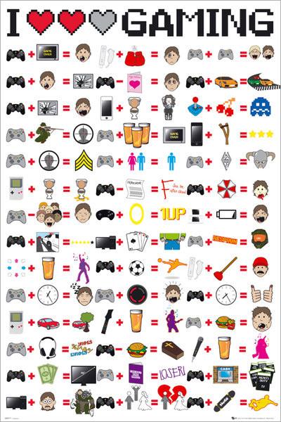 Plagát  I love gaming