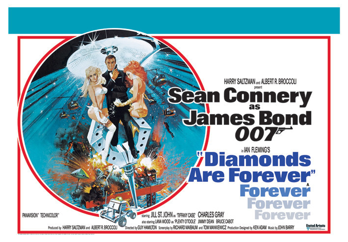 Plagát JAMES BOND 007 - diamonds are forever