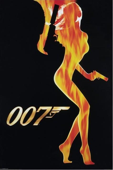 Plagát JAMES BOND 007 - flame girl