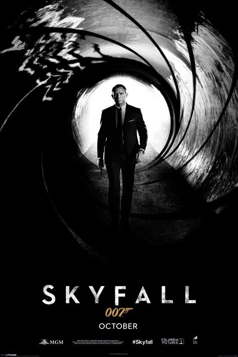 Plagát JAMES BOND 007 - skyfall