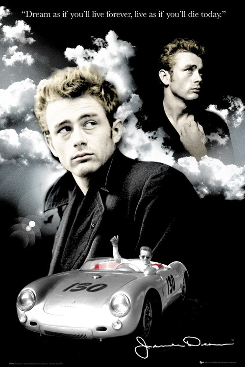 Plagát James Dean - clouds