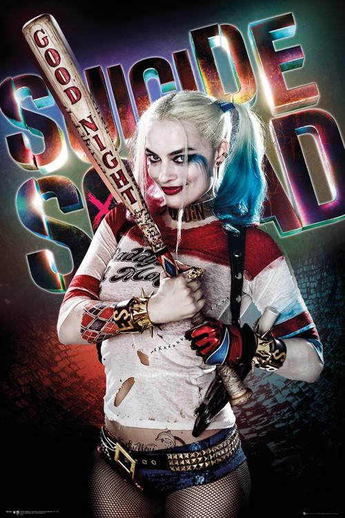 Plagát Jednotka samovrahov - Harley Quinn Good Night