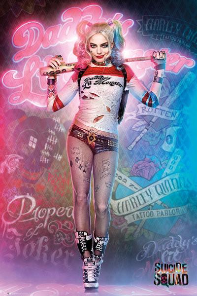 Plagát Jednotka samovrahov - Harley Quinn Stand