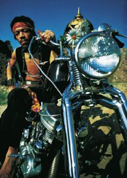 Plagát Jimi Hendrix - motorbike