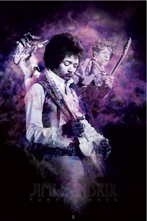 Plagát Jimi Hendrix - purple haze smoke