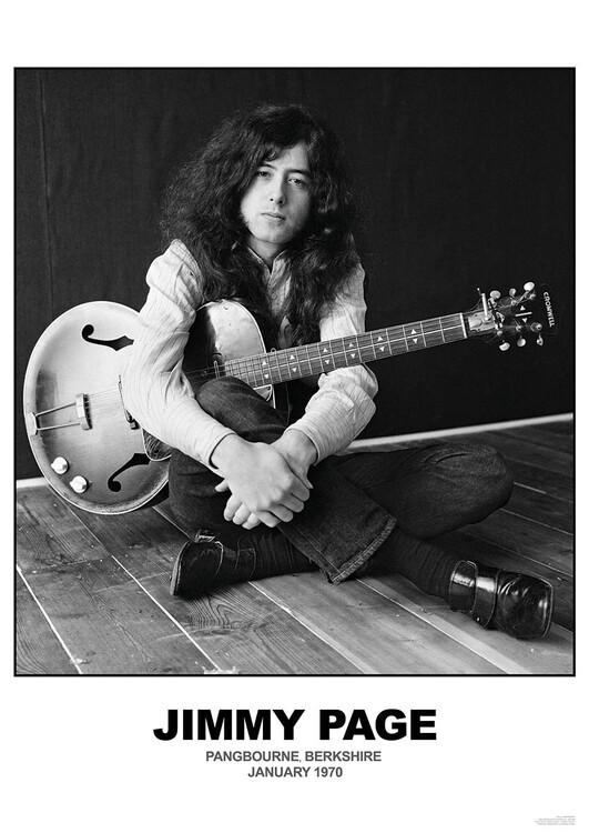 Plagát Jimmy Page - January 1970 Berkshire