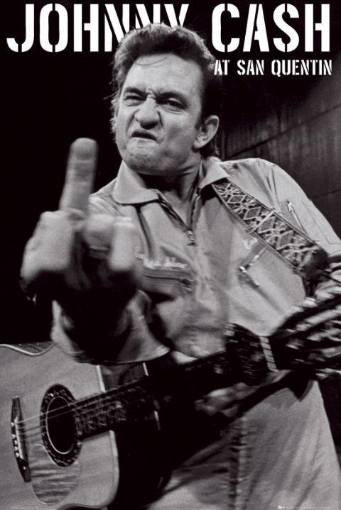 Plagát Johnny Cash - san quentin portrait