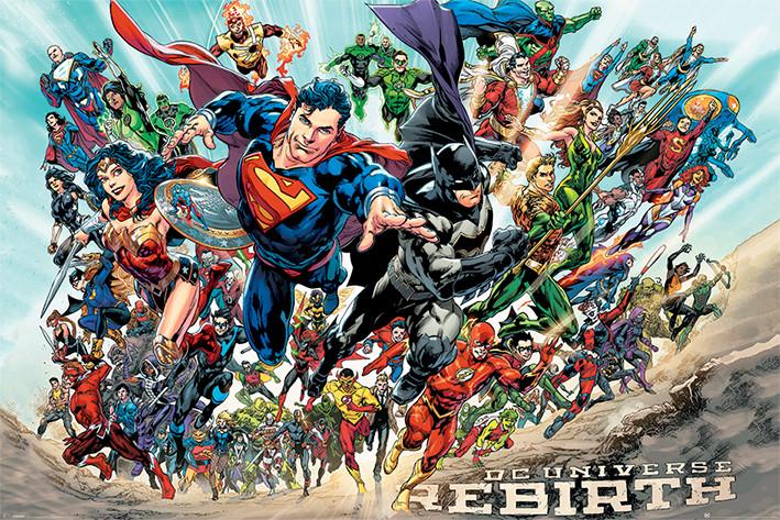 Plagát Justice League - Rebirth