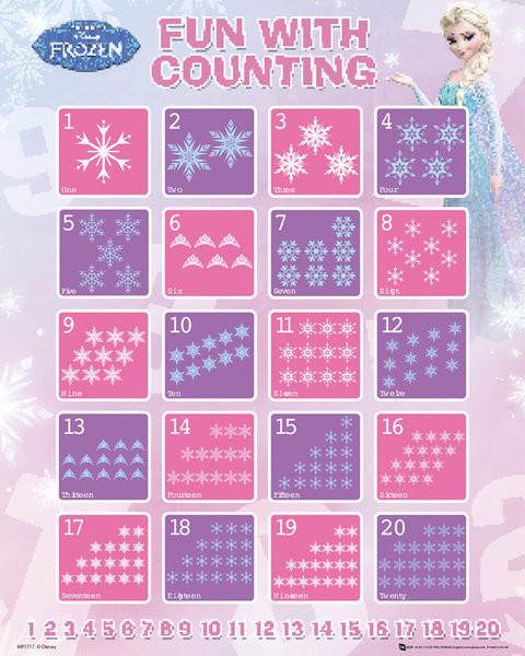 Plagát Ľadové kráľovstvo - Counting