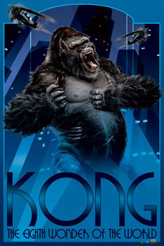 Plagát KING KONG - art deco